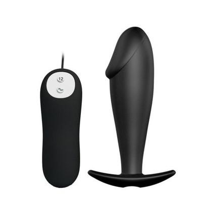 12 Speeds Vibrating Anal Penis Shape Plug Prostate Massager | moodTime