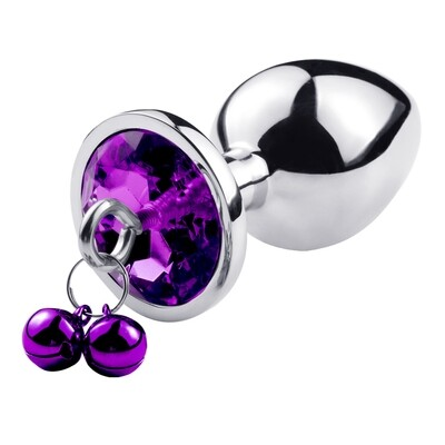 Stainless Steel Butt Plug With Jewel and Bells (S) | moodTime