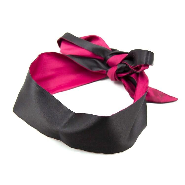 Soft Eye Mask Ribbon Reversible Blindfold | moodTime