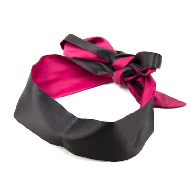 Soft Eye Mask Ribbon Reversible Blindfold | moodTime