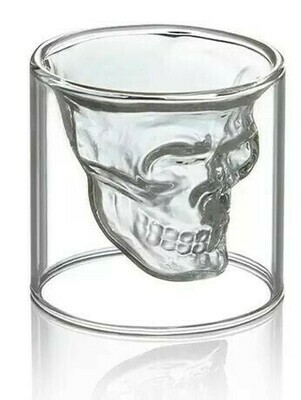 Skull Head Double Wall Shot Glass 75ml - 7x7 cm | moodTime
