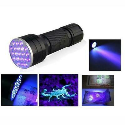 21 LED Purple Light UV Black Light Flashlight | moodTime