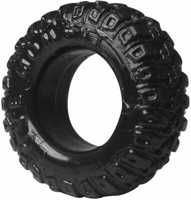 Tyre Tread Silicone Cock Ring - Black | moodTime