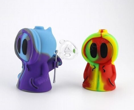 Silicone Ghost Water Bubbler Weed Blunt Holder | moodTime