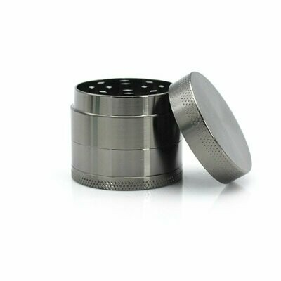 40mm 4 Part Zinc Alloy Tobacco Weed Grinder - Silver | moodTime