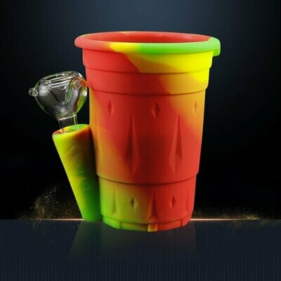 Silicone Drinking Water Cup & Smoking Weed Bubbler   moodTime