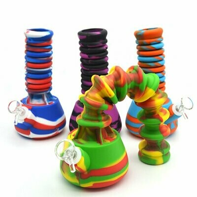 Bendy Silicone Hookah Water Pipe + Silicone Stem   moodTime
