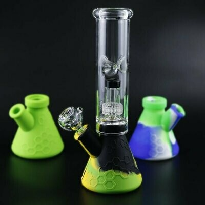 Silicone Water Pipe Glass Bong | moodTime