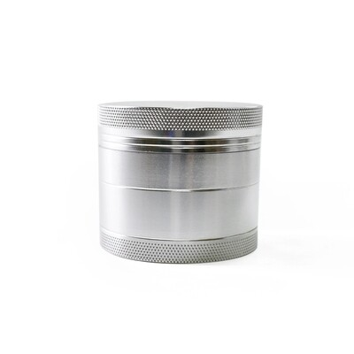 40mm 4 Part Zinc Alloy Tobacco Weed Grinder - Shiny Silver | moodTime