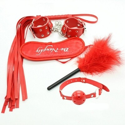 5Pcs Be Naughty Red BDSM Set | moodTime