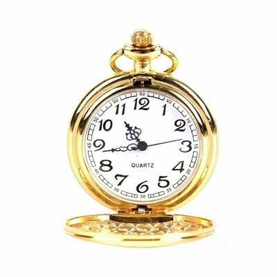 Classic Smooth Steel Pocket Watch - Gold | moodTime