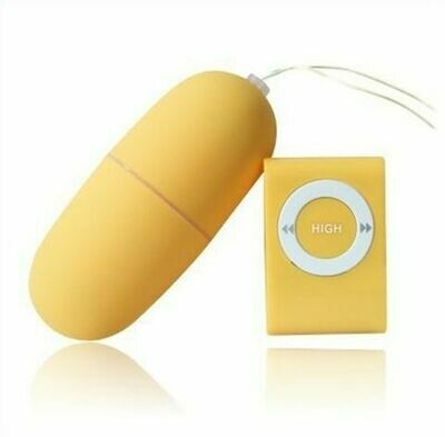 Wireless Remote Control Vibrating Egg - Yellow | moodTime