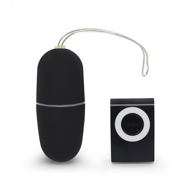 Wireless Remote Control Vibrating Egg - Black | moodTime