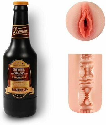 Beer Shape Silicone Pussy Flesh Color Masturbation Cup | moodTime