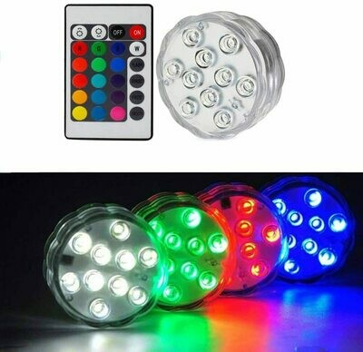 10 LED Colorful Submersible Light With Remote Control | moodTime