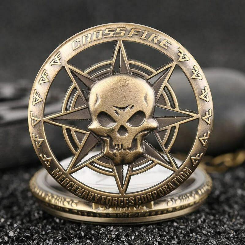 Gothic Rock Skull Rebellious Pocket Watch | moodTime