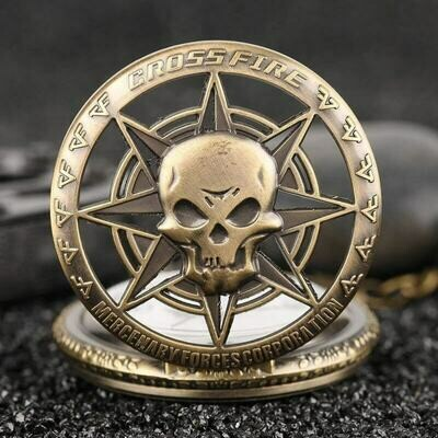 Gothic Rock Skull Rebellious Pocket Watch | moodTime