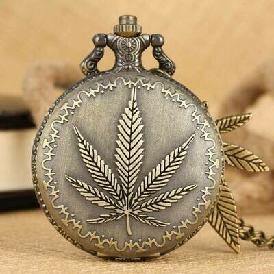 Stoner Weed Leaf Rebellious Pocket Watch | moodTime