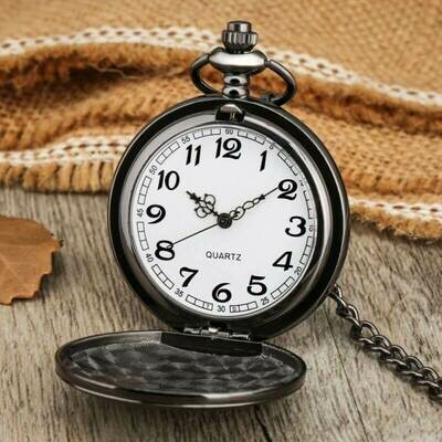 Classic Smooth Steel Pocket Watch - Dark | moodTime