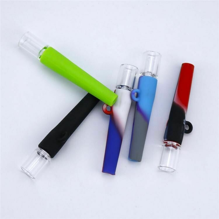 One Hitter Silicone And Glass Pipe  | moodTime