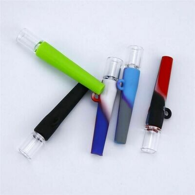 One Hitter Silicone And Glass Pipe    moodTime