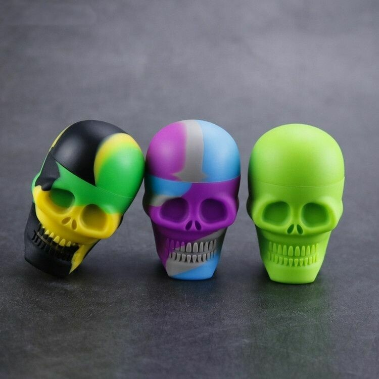 Airtight Silicone Skull Storage Stash Container | moodTime