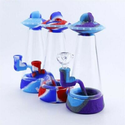 UFO Silicone Bubbler Smoking Water Pipe   moodTime