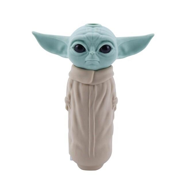 Baby Grogu Yoda Silicone Smoking Pipe | moodTime