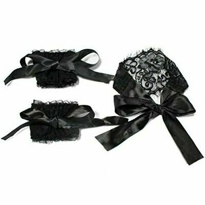 Satin Lace Bondage Set Eye Mask Wrist Cuffs | moodTime