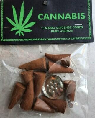 Cannabis Weed Incense Cones | moodTime