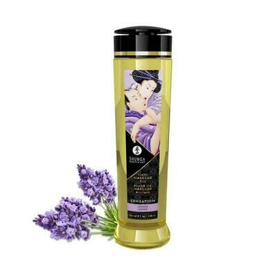 Shunga Massage Oil Sensation Lavender - 240ml | moodTime