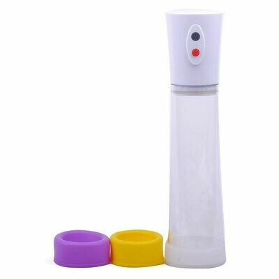 Rechargeable Penis Pump with 3 Silicone Rings   moodTime