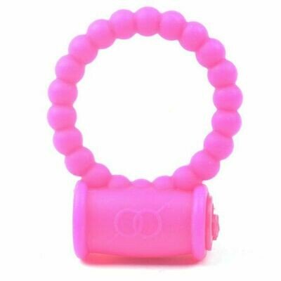 Beaded Silicone Vibrating Cock Ring with on/off switch   moodTime