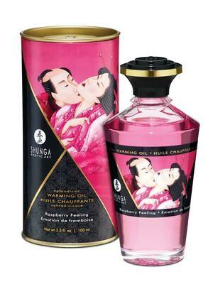 Shunga Intimate Kisses Oil - Raspberry - 100ml | moodTime