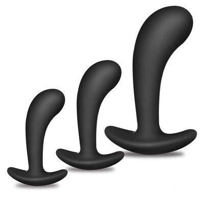 Silicone 3 Piece Prostate Stimulation Butt Plug Set | moodTime