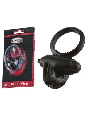 Malesation Vibro Rabbit Ring Black | moodTime