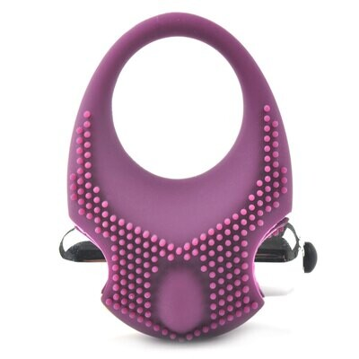 Silicone Textured Vibrating Cock Ring | moodTime