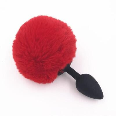 Fluffy Bunny Tail Silicone Butt Plug | moodTime
