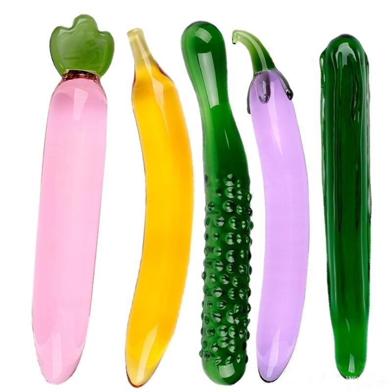 Sexy Fruit And Veg Crystal Glass Masturbation or Anal Sex Toy | moodTime