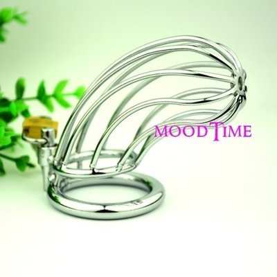 Stainless Steel Penis Ring Chastity Device   moodTime