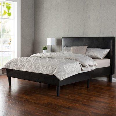 Base para colchón con respaldar y borde de Piel