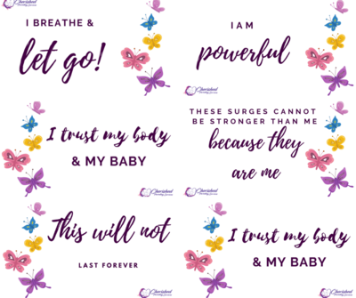 Labour and birth affirmation magnets