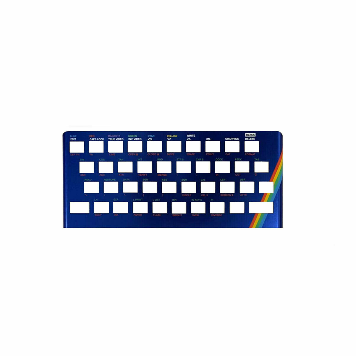 ZX Spectrum 16k/48k keyboard replica cover plate (faceplate) Metallic Blue