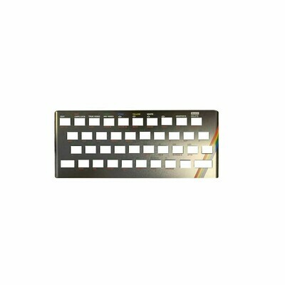 Zx Spectrum 16k/48k keyboard replica cover plate (faceplate) Titanium