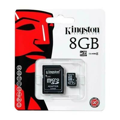 Kingston 8GB Micro SD card with adaptor