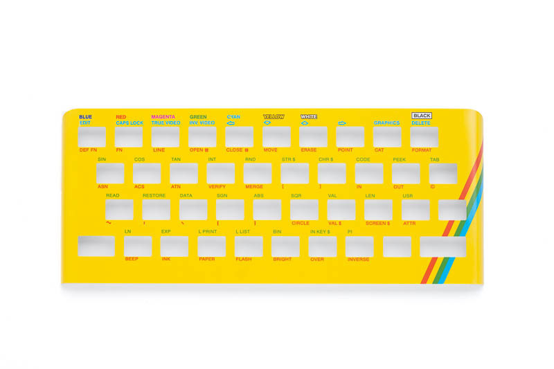 Zx Spectrum 16k/48k keyboard replica cover plate (faceplate) yellow