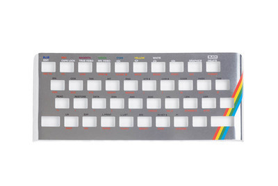 Zx Spectrum 16k/48k keyboard replica cover plate (faceplate) silver