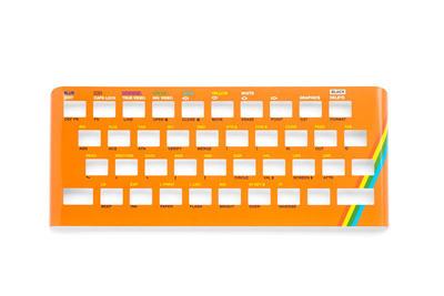 Zx Spectrum 16k/48k keyboard replica cover plate (faceplate) orange