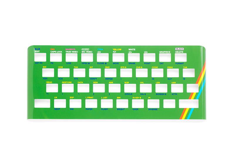 Zx Spectrum 16k/48k keyboard replica cover plate (faceplate) green