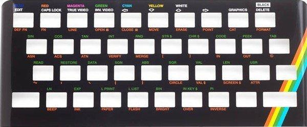 Zx Spectrum 16k/48k keyboard replica cover plate (faceplate) Black